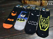 Batman estereoscópico algodão meias para 5 - 9 ano de idade crianças Batman feliz meias Jacquard meias 103 w(China (Mainland))