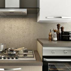 Composizione cucina moderna SMART anta liscia lino e bianco - Top ...