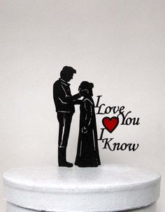 Wedding Cake Topper - StarWars Leia & Hans Solo 2