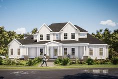 House Plan 1070-00268 - Modern Farmhouse Plan: 3,332 Square Feet, 5 Bedrooms, 3.5 Bathrooms 4000 Sq Ft House Plans, Best House Plans, House Floor Plans, Modern Farmhouse Plans, Farmhouse Style, Farmhouse Ideas, Build Your Dream Home, Square Feet, Container Houses