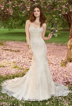 Venice lace, tulle, beaded appliques and chantilly lace mermaid ...