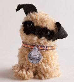 Make an adorable pug! http://www.klutz.com/crafts/Pom-Pom-Puppies: