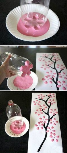 Crafty project! You could use this as a background for a frame or acraft project with kids.