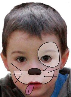 Kinder schminken: Hund