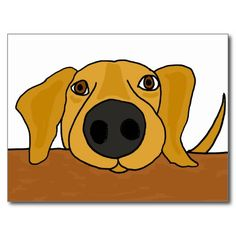 Hilarious cute yellow labrador retriever puppy dog begging at the table cartoon design is unique and fun and a great gift idea. He's full of personality. Can also add custom text and change background color (click customize, then edit, then background) when ordering.