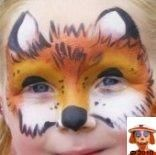 Cute Face Painting Fox Painting, Face Painting Designs, Paint Designs, Painting For Kids, Animal Face Paintings, Butterfly Face Paint, Cheek Art, Boy Face, Fox Face Paint