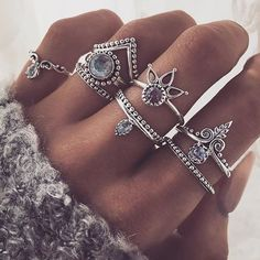 boho stacking rings