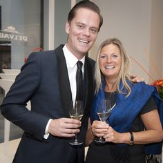 Tanguy Ottomer - Edith Vervliet - The #Delvaux private dinner in #Antwerp in June 2015