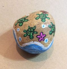 Original Hand Painted Rock With Baby Turtle Theme Paper Weight    eBay