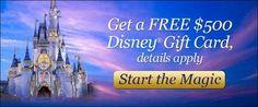 Get #Free $500 #Disney Gift Card