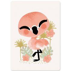 Carte A6 les Animignons le flamant rose : Kanzilue