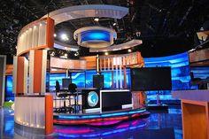 golf channel Tv Set Design, Stage Design, Booth Design, Golf Channel, Stage Set, News Studio, Jukebox, Design Inspiration, Studio Design