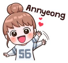 it's a Korea thing but I'll put this here Kpop Stickers, Stickers Kawaii, Korean Stickers, Cute Stickers, Korean Phrases, Korean Words, Emoji, Character Concept, Character Design