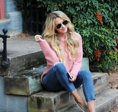 Velvet sneaks and the best pink sweater