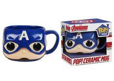 Pop! Home: Captain America Pop! Ceramic Mug | Funko