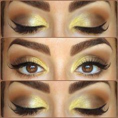 Een goud/bruin make-upje!