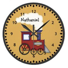 Little Train Engine Wall Clock