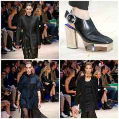 Lots of black #Celine for Spring 2014 looks #brutallychic. www.celine.com #womensfashion #womenswear