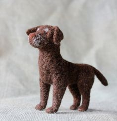 CUSTOM Pet Portrait Tiny Felt Dogs Cats and by FiberFriends-- need to get one of these to match the Spartacus replica we have