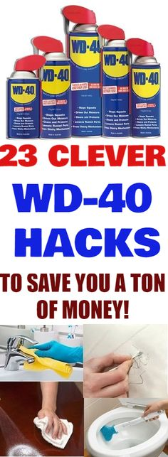 It is amazing how much money you can save with simply knowing a few tricks here and there. These simple tricks save time and money on some of the most used things in your home! melting away hard water stains, prevent rust.... #wd40 #savemoneyhacks #hacks #cleaninghacks #tips #tricks #wd40hacks #cleaning #homehacks