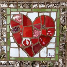 I Love You by Anja Hertle  ~ Maplestone Gallery  ~  Contemporary Mosaic Art