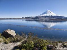 Parque Nacional Lauca, na cordilheira dos Andes