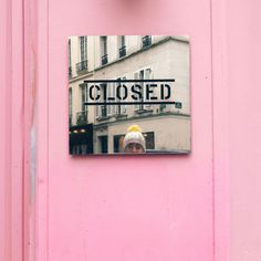 Pink wall in Paris. xanthe berkeley | PINK – COLOR//COLOUR LOVERS 2018