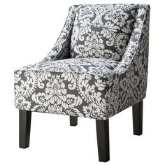 Target : Hudson Upholstered Accent Chair - Damask Indigo : Image Zoom  - For the craft room