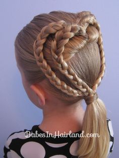 2 Braided Hearts | Valentine's Day Hairstyle from babesinhairland.com #valentinesday #hearts #hairstyles