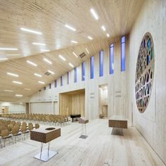 Location: Knarvik, Hordaland, Norway Program: New community church with cultural and administration facilities Client: Lindås Kyrkjelege Fellesråd Size/value: 2,250 m2 building, 15,000 m2 total planning area / 80 MNOK Commission Type: Invited competition (2010), 1st prize Status: Under development (scheduled completion 2014) Photo credits: Reiulf Ramstad Arkitekte