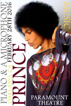 PRINCE Is Coming To Oakland! Paramount Theatre This Sunday! 2 Shows! Tix On Sale At Noon Tomorrow!