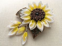 Glitter sunflower beads corsage