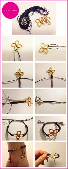 19 DIY Fashion Projects, DIY Gold Clover Bracelets - projects for Hannah and Kahri Wire Jewelry, Jewelry Crafts, Beaded Jewelry, Jewelery, Jewelry Bracelets, Handmade Jewelry, Jewelry Ideas, Bulgari Jewelry, Jewelry Quotes