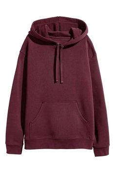 Wide hooded top in sweatshirt fabric with dropped shoulders, a jersey-lined drawstring hood, kangaroo pocket and ribbing at the cuffs and hem. Pullover Hoodie, Sweater Hoodie, Hoody, Cut Sweatshirts, Hooded Sweatshirts, Cute Lazy Outfits, Casual Outfits, Teen Fashion Outfits, Girl Outfits