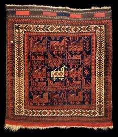 Culture Baluchi people Creation date about 1870 Collection Textiles Materials wool Dimensions 28 x 32 in. | 71.1 x 81.3 cm.