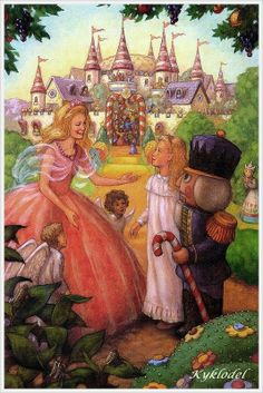 Illustration to the fairy tale the Nutcracker 010 Sugar Plum Fairy, Barbie Movies, Fantasy Films, Fairytale Art, Nutcracker Christmas, Outsider Art, A Christmas Story, Children's Book Illustration, Conte