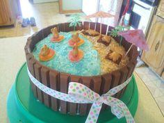 Kitkat Beach Birthday Cake