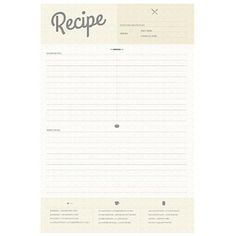 Wallies 16080 Recipe Card Dry Erase Wall Decal - 12 x 18 in., As Shown