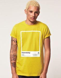 Supremebeing S:tone T-Shirt Supremebeing S: tom Camiseta T Shirt Designs, Shirt Print Design, Tee Design, Cool Shirts, Tee Shirts, Tees, Yellow T Shirt, Bape, Apparel Design
