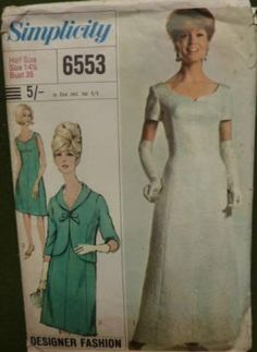 Simplicity - Designer Fashion - No. 6553 - One-Piece Dress in Two Lengths and Jacket
