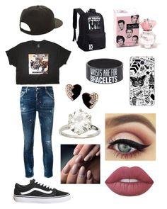 """1D fan"" by olahtory on Polyvore featuring Samsung, NIKE, Topshop, Dsquared2, Hot Topic, Yves Saint Laurent and Lime Crime"