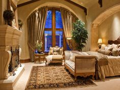 Elegance and beauty in the master bedroom.