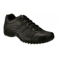 e3b62df8a82a This black men s work shoe makes an ideal slip resistant restaurant shoe. SR  Max