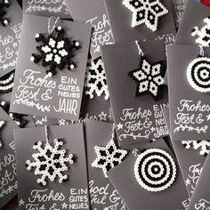 Christmas cards hama beads by sketchnotelovers