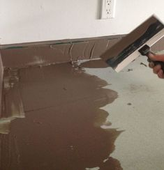 Make old laminate counter tops look like concrete omg.... this will be perfect for us! Inexpensive! #BathroomFurnitureForAnRv