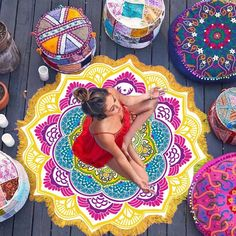 Lotus Flower Mandala Tapestry