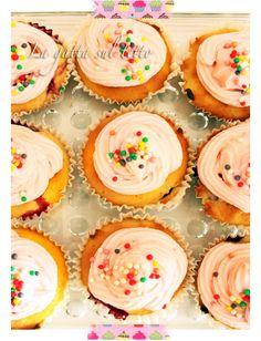cupcakes  cheese and raspberries