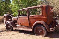 Car Cookies, Rusty Cars, Abandoned Cars, Abandoned Buildings, Vintage Race Car, Chevrolet Trucks, Diesel Trucks, Route 66, Big Trucks