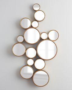 Bubbles Mirror, Gold