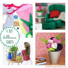 4 dollhouse craft DIY projects from Lundby #xmas_present #xmas_gifts